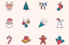 Sweet Christmas Icon Set (Sketch App)