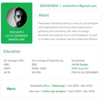 Minimal Clean Resume Template For Designers (Adobe XD)