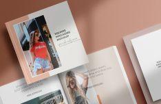 Square Fashion Magazine PSD Mockup