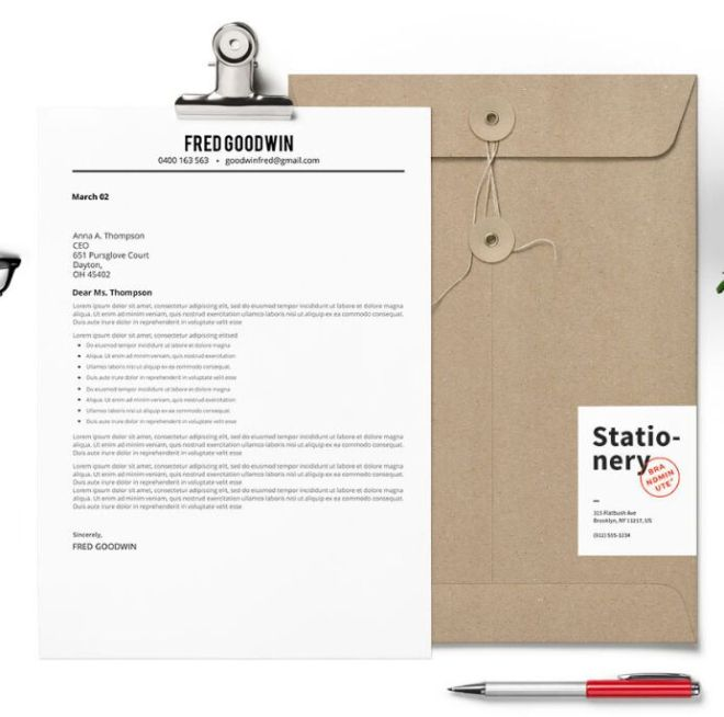 Realistic Resume & Cover Letter Design PSD