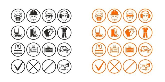 12 Safety Vector Icons