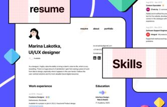Minimal Resume CV Template For Figma