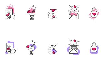10 Creative Valentines Icons Vector