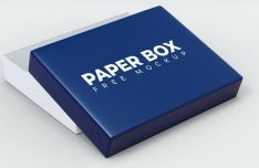 Elegant Paper Box PSD Mockups (7 Views)