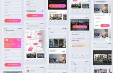 Neomorphic Style Travel UI Kit For Figma