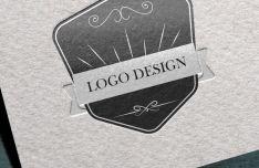 Letterpress Logo Template PSD