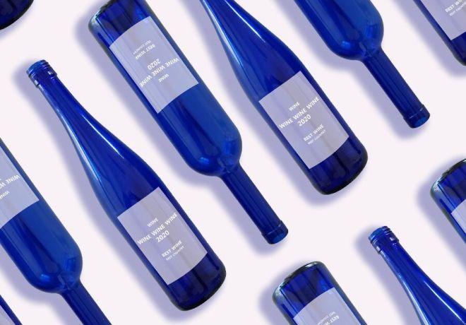 Minimal Wine Bottle Mockup PSD