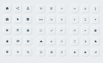 Neumorphism UI UX Icons