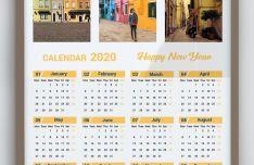 2020 Calendar Vector Template