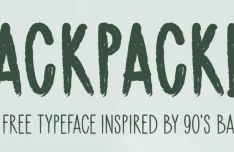 Backpacker Brush Font