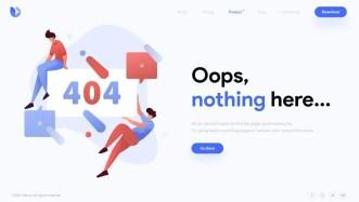 Modern Clean 404 Error Page Design
