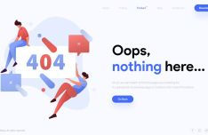 Modern Clean 404 Error Page Design