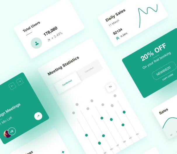 Clean Dashboard Card Elements