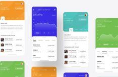 Colorful App UI Design For Sketch