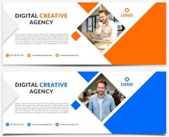 Agency Facebook Cover Photo Template PSD