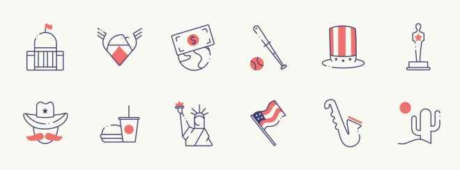 12 USA Icons For Figma
