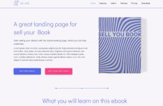 Clean E-book Landing Page For Figma