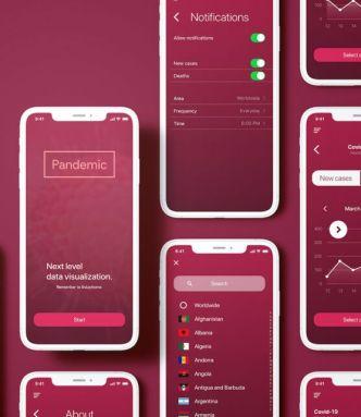Data Visualization App UI Kit For iOS