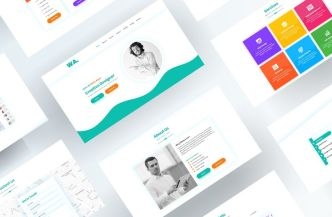 Professional Resume & Personal Web Template (PSD & XD)