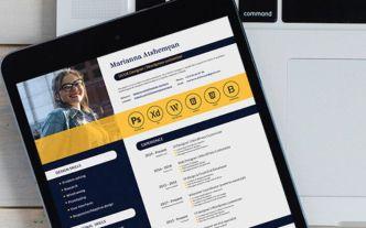 Developer Resume CV PSD Mockup