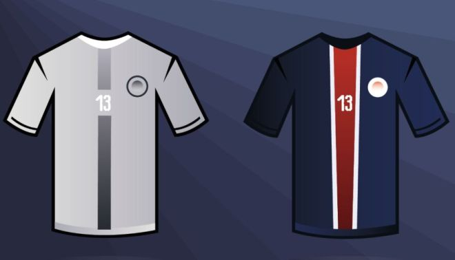 Paris Saint-Germain Jersey Vector