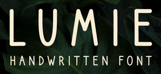 Lumie Handwritten Typeface