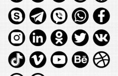 22 Social & Contact Icons (PNG & SVG)