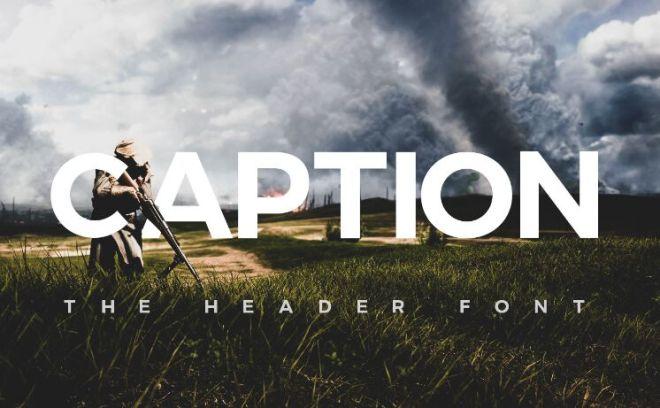 Caption Bold Header Font