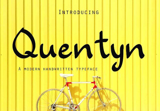 Quentyn Modern Handwritten Font