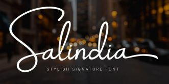 Salindia Signature Font