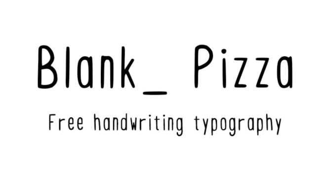 Blank Pizza Handwriting Typeface