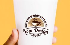 4 High Solution Coffee Paper Cup PSD Mockups