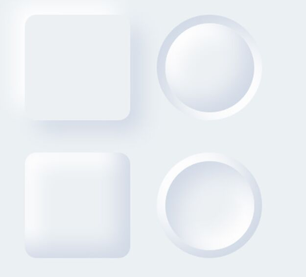 Neuomorphism Button Template (Sketch)