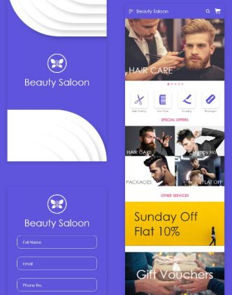 Beauty Saloon Mobile App Design (AI & XD)
