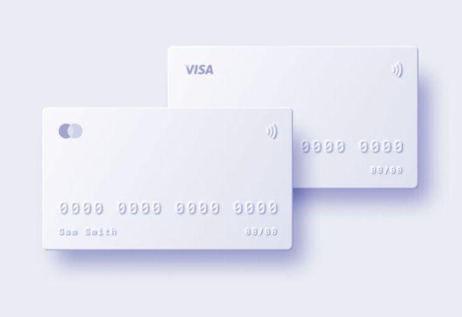 Neumorphic Style Bank Card Template (Figma)