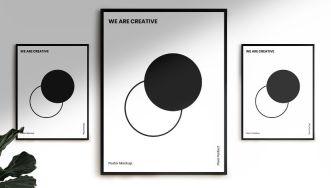 Minimal Creative Wall Poster PSD Mockup