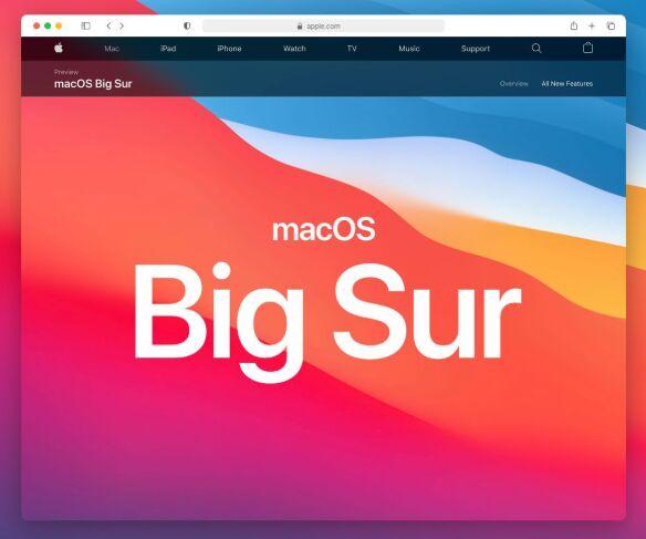 macOS 11 Big Sur Safari Browser Mockup Sketch