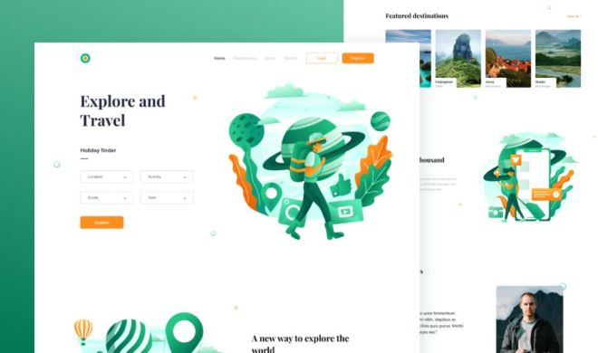 Tour and Travel Website Template Figma