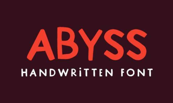Abyss Handmade Typeface