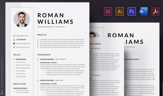 3 Page Resume CV Template