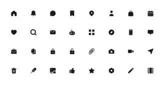32 Vector Icons For App Design