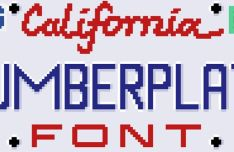 Numberplate Pixel Font