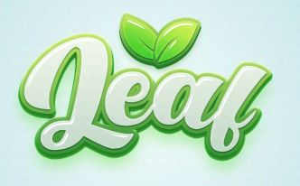 Leaf Text Effect For Photoshop