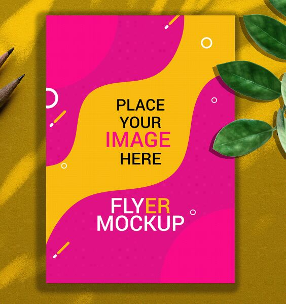 Illustration Flyer PSD Mockup
