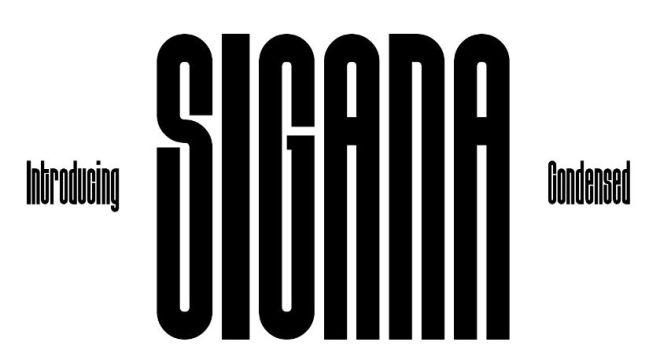 Sigana Condensed Display Font