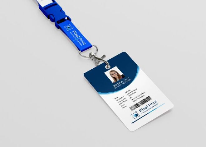 Clean & Professional ID Card PSD Template