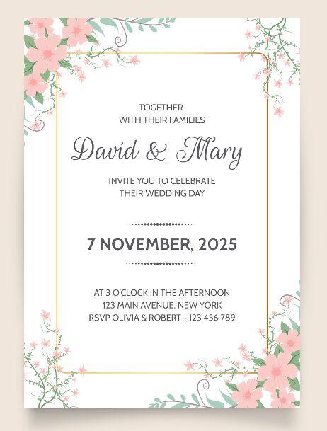 Wedding invitation Template Design Vector