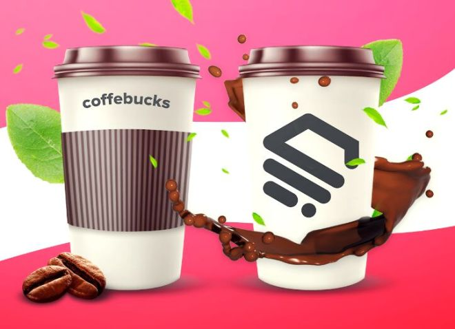 Glossy Coffee Cup PSD Template