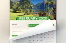 Wall Calendar Template For Adobe Photoshop & Illustrator