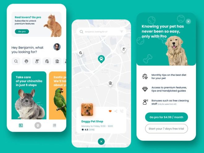 Minimal Pet Mobile App Design For Figma